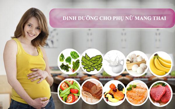 Chế độ dinh dưỡng chung cho phụ nữ mang thai.